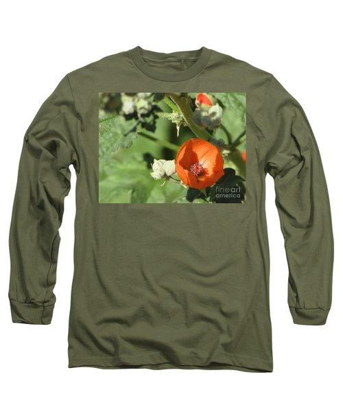 Desert Globemallow Bloom 215 Long Sleeve T-Shirt