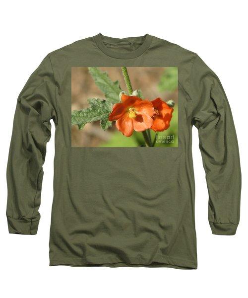 Desert Globemallow Bloom 220 Long Sleeve T-Shirt by En-Chuen Soo