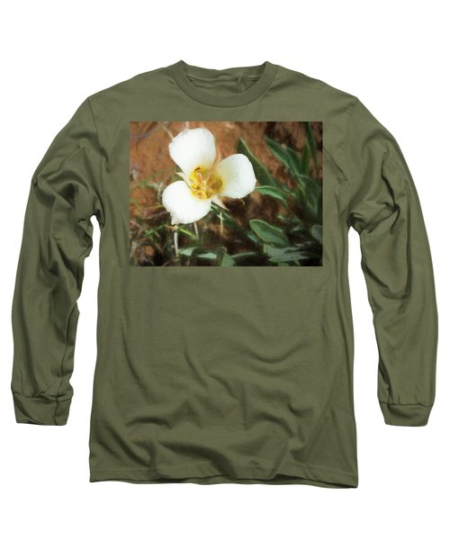 Desert Mariposa Lily Long Sleeve T-Shirt by Penny Lisowski