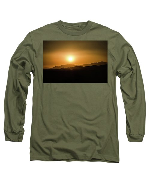 Desert Mountain Sunset Long Sleeve T-Shirt