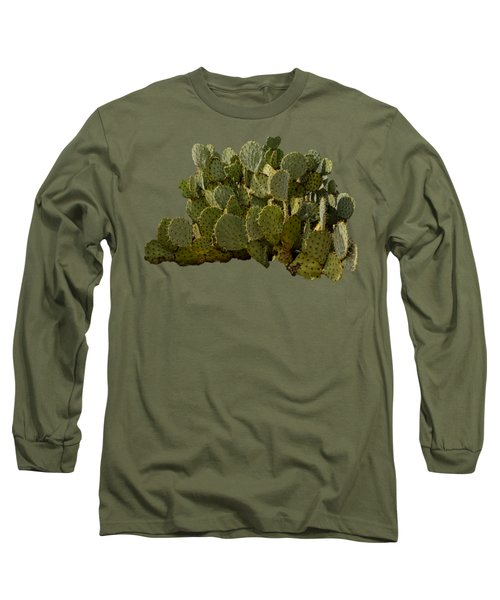 Desert Prickly-pear No6 Long Sleeve T-Shirt by Mark Myhaver