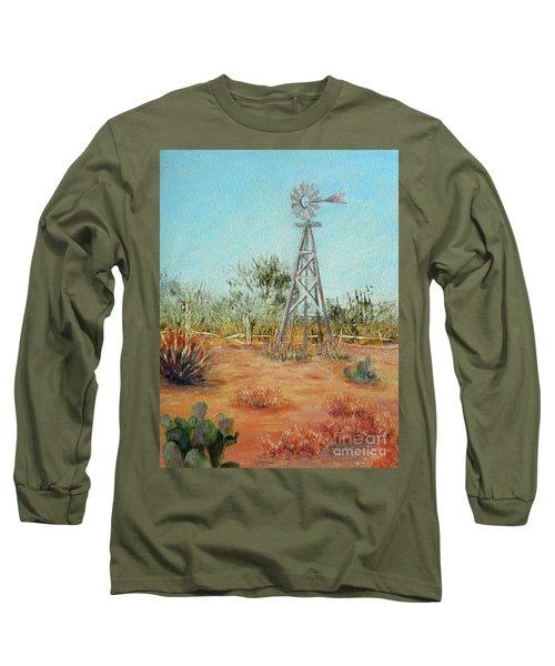 Desert Windmill Long Sleeve T-Shirt