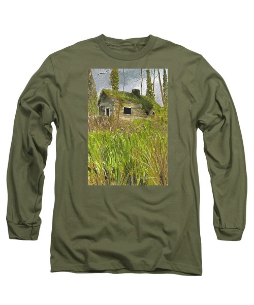 Long Sleeve T-Shirt featuring the digital art Deserted by Dale Stillman