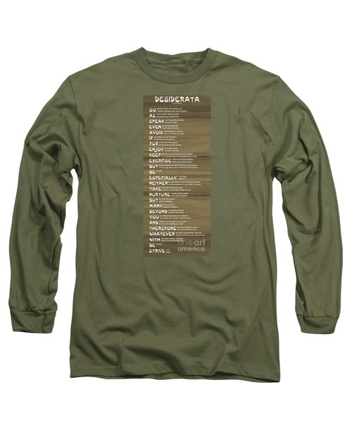 Desiderata 17 Long Sleeve T-Shirt