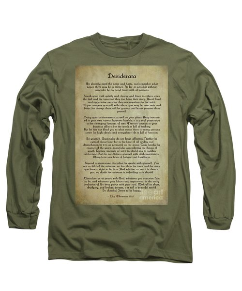 Desiderata Long Sleeve T-Shirt by Olga Hamilton