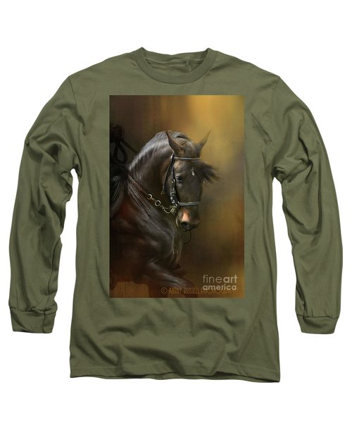 Desparate' In Gold Long Sleeve T-Shirt by Kathy Russell