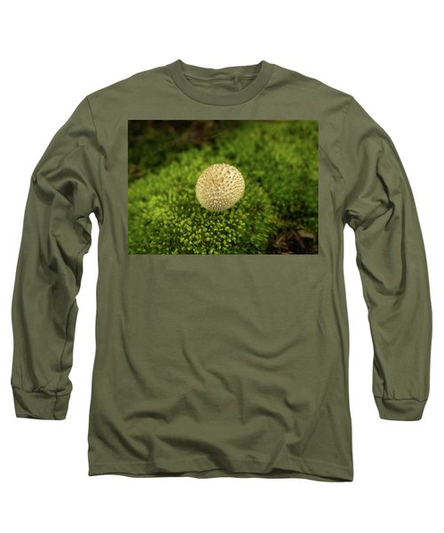 Developing Mushroom On A Bed Of Moss Long Sleeve T-Shirt
