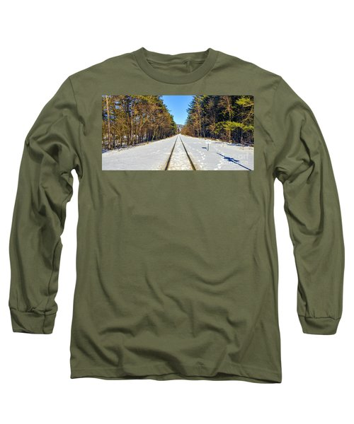 Long Sleeve T-Shirt featuring the photograph Devil's Lake Railroad by Ricky L Jones
