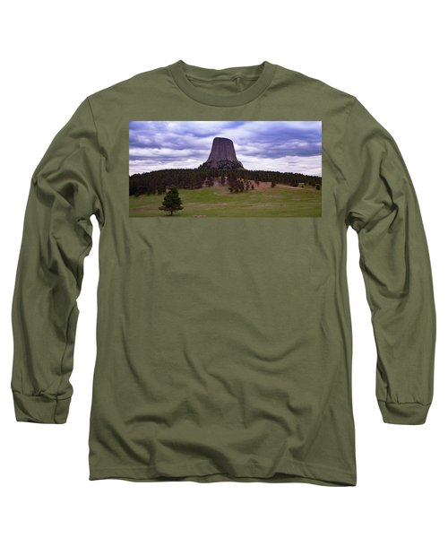 Long Sleeve T-Shirt featuring the photograph Devil's Tower 2 by Gary Lengyel