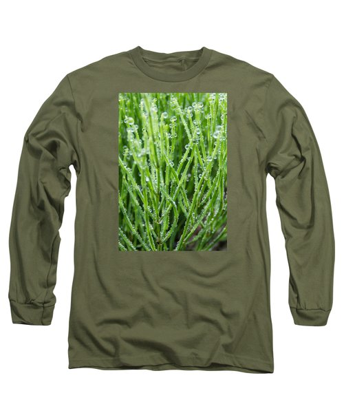 Dew Drop Long Sleeve T-Shirt by Cynthia Traun