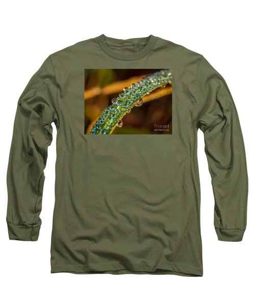 Dew Drop Reflection Long Sleeve T-Shirt by Tom Claud