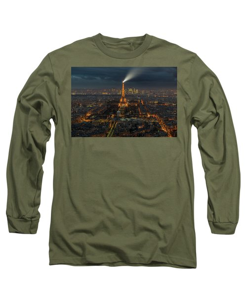 Didn't Know Paris Has A Skyline Long Sleeve T-Shirt by Alex Aves