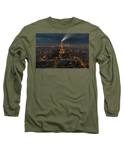Didn't Know Paris Has A Skyline Long Sleeve T-Shirt by Alex Aves