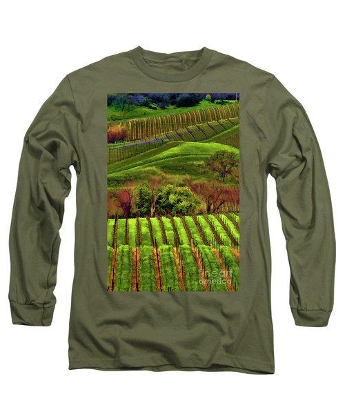 Enhanced Stunning Napa Valley Vineyards Vibrant  Long Sleeve T-Shirt
