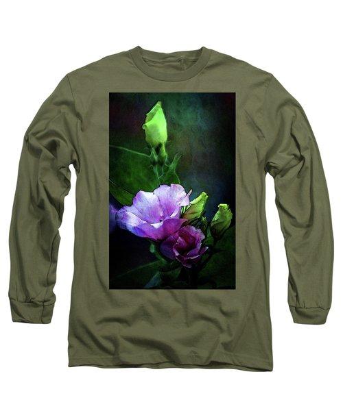 Digital Watercolor Elegance 3700 W_2 Long Sleeve T-Shirt