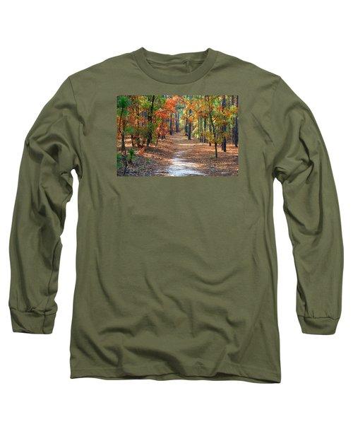 Autumn Scene Dirt Road Long Sleeve T-Shirt