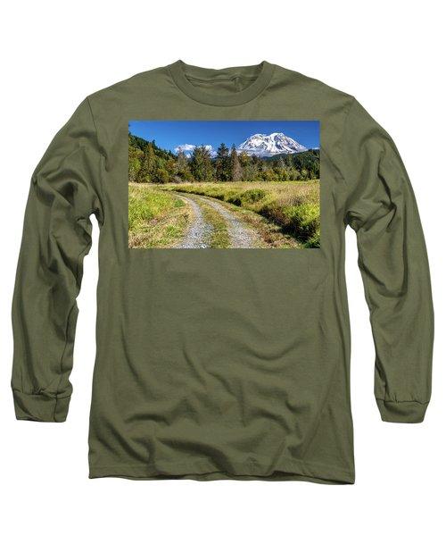 Dirt Road To Mt Rainier Long Sleeve T-Shirt