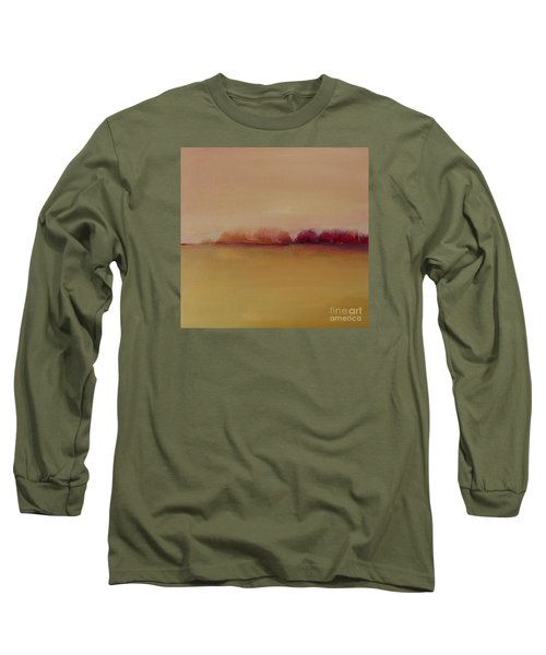 Distant Red Trees Long Sleeve T-Shirt
