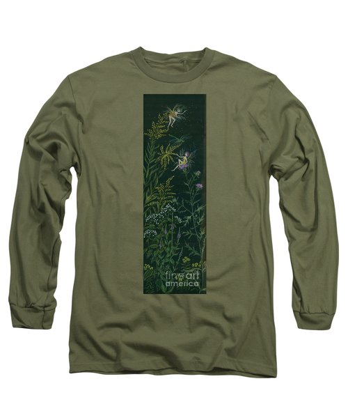 Ditchweed Fairies Goldenrod And Thistle Long Sleeve T-Shirt by Dawn Fairies
