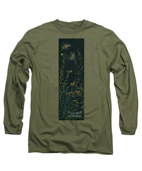 Long Sleeve T-Shirt featuring the drawing Ditchweed Fairy Tiger Swallowtail by Dawn Fairies