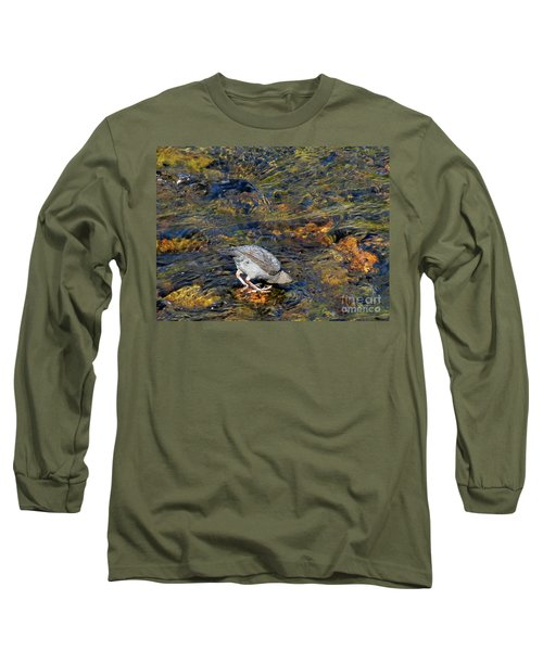 Long Sleeve T-Shirt featuring the photograph Diving For Food by Ausra Huntington nee Paulauskaite