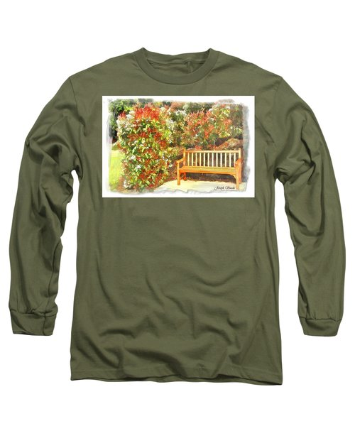 Long Sleeve T-Shirt featuring the photograph Do-00122 Inviting Bench by Digital Oil