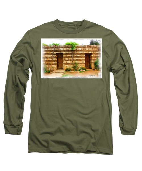 Long Sleeve T-Shirt featuring the photograph Do-00305 Old Hutt In Anjar by Digital Oil