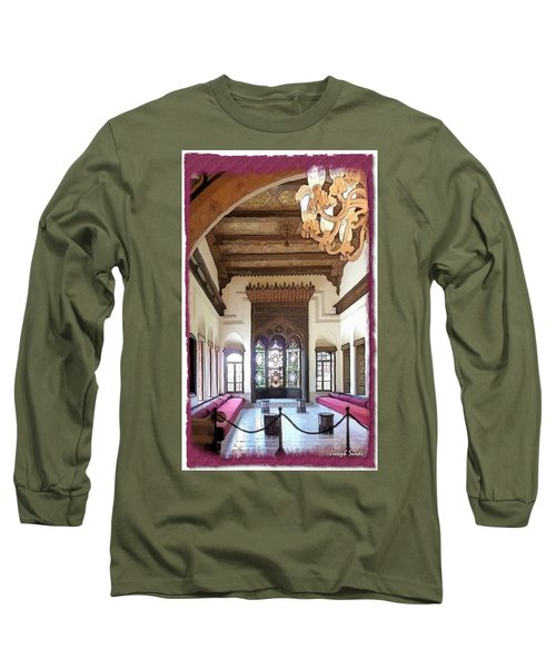 Do-00448 Reception Room At Beiteddine Long Sleeve T-Shirt by Digital Oil