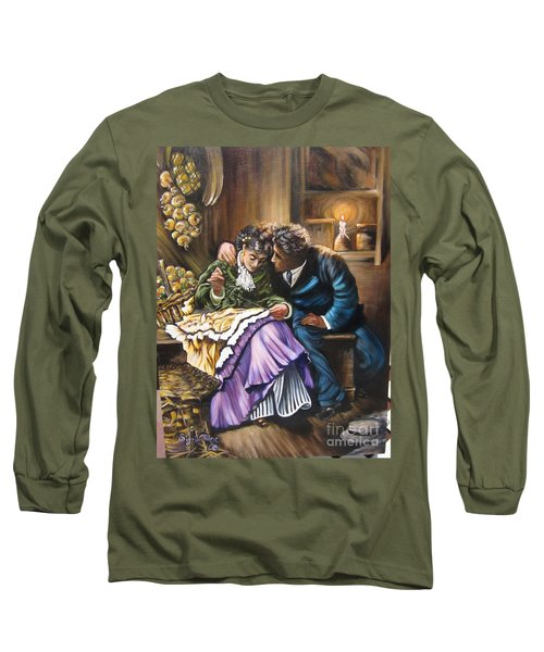 Long Sleeve T-Shirt featuring the painting Do You Love Me? by Sigrid Tune