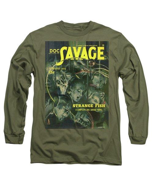 291a33b4 Doc Savage Strange Fish Long Sleeve T-Shirt