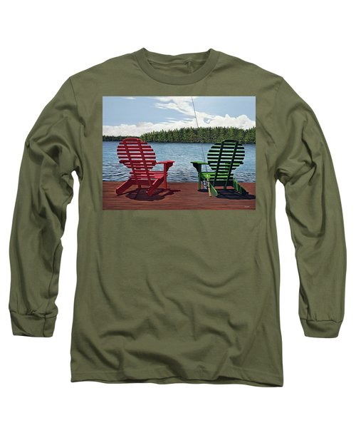 Dockside Long Sleeve T-Shirt by Kenneth M  Kirsch