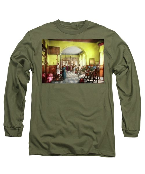 Long Sleeve T-Shirt featuring the photograph Doctor - Physical Therapist - Welcome To The A Traction 1918 by Mike Savad