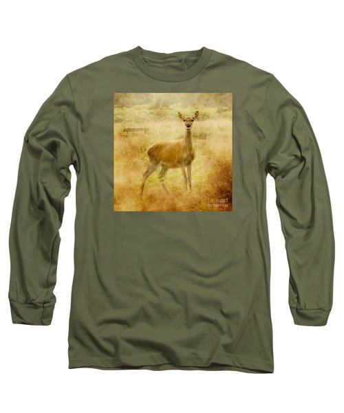 Long Sleeve T-Shirt featuring the photograph Doe A Deer A Female Deer by Linsey Williams
