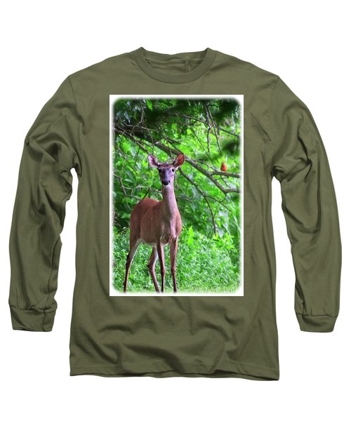 Doe And Cardinal Long Sleeve T-Shirt