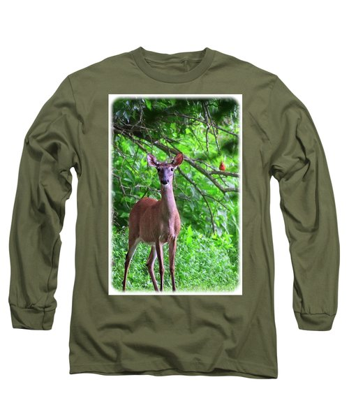 Doe And Cardinal Long Sleeve T-Shirt