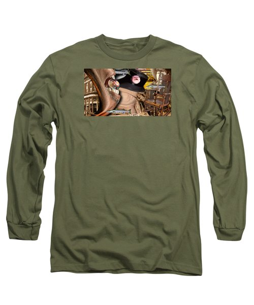 Does Your Dog Bite Long Sleeve T-Shirt by Steve Sperry