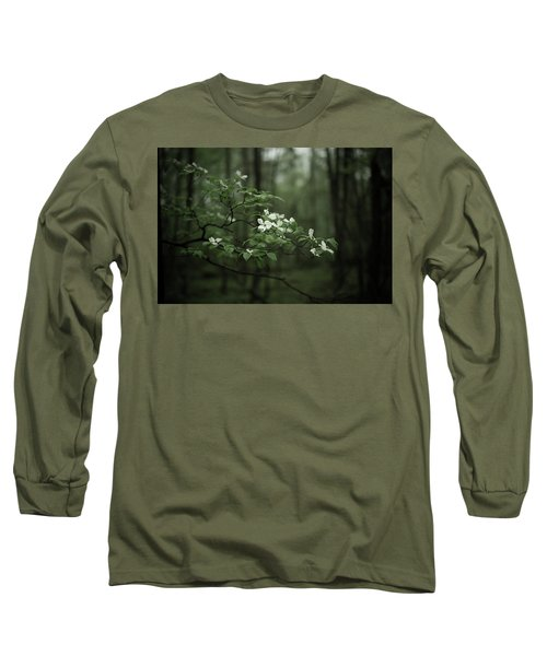 Long Sleeve T-Shirt featuring the photograph Dogwood Branch by Shane Holsclaw