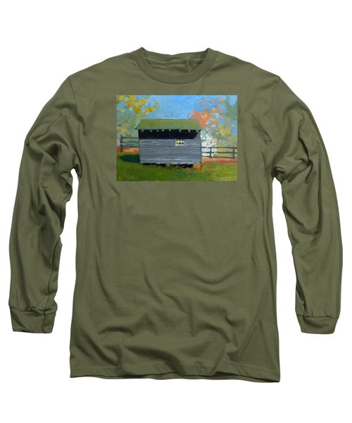 Dogwood Farm Shed Long Sleeve T-Shirt by Catherine Twomey