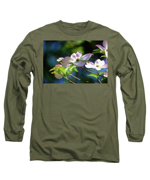 Dogwood Flowers Long Sleeve T-Shirt by Ronda Ryan