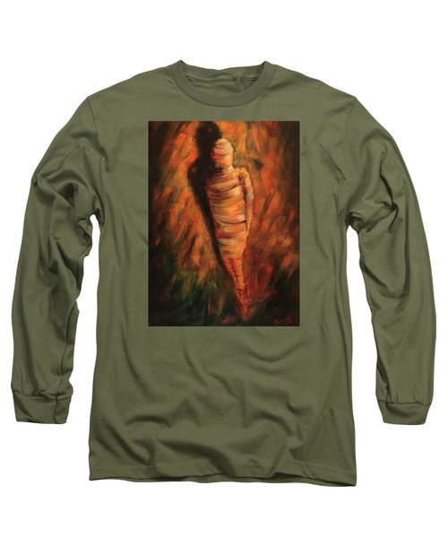 Long Sleeve T-Shirt featuring the painting Doll by Randol Burns