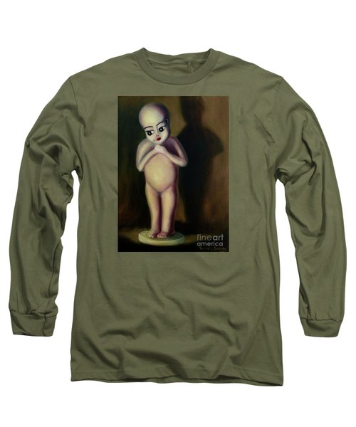 Long Sleeve T-Shirt featuring the painting Dollie by Randol Burns
