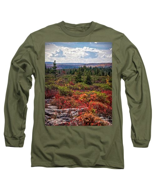 Dolly Sods Wilderness In Autumn 4273 Long Sleeve T-Shirt