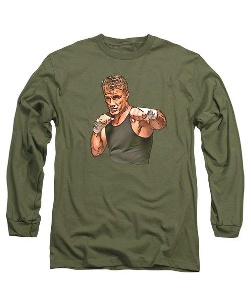 Dolph Lundgren Long Sleeve T-Shirt by Sergey Lukashin