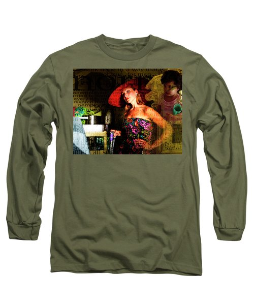 Domestic Considerations O Yeah? Long Sleeve T-Shirt by Ann Tracy