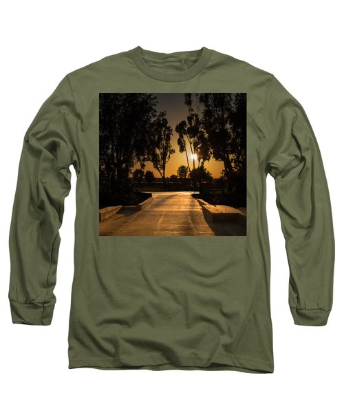 Dominguez Hills Sunset Long Sleeve T-Shirt