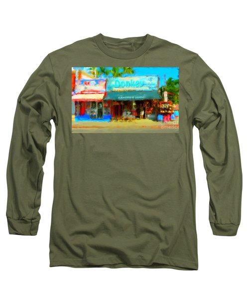 Donkey Leather Shop Long Sleeve T-Shirt by Gerhardt Isringhaus