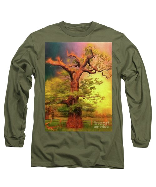 Long Sleeve T-Shirt featuring the photograph Don't Fence Me In by Leigh Kemp
