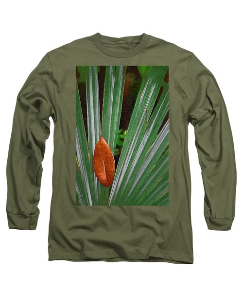 Long Sleeve T-Shirt featuring the photograph Don't Leaf by Donna Bentley