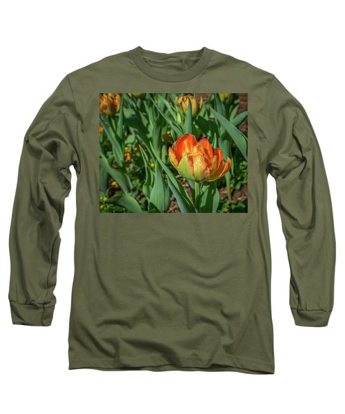Double Multicolor Tulips Long Sleeve T-Shirt