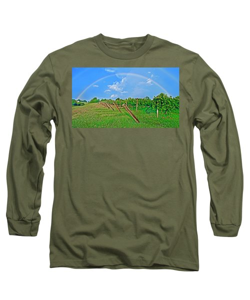Double Rainbow Vineyard, Smith Mountain Lake Long Sleeve T-Shirt